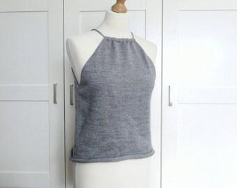 Grey Tank Top | Drawstring Camisole | Women's Grey Top | Vest Top | Women's Clothing