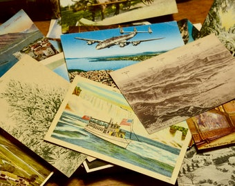 Random Lot of Antique and Vintage Postcards