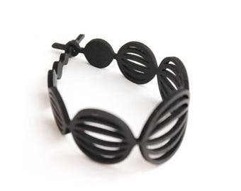 Bracelet inner tube of truck 100% recycled in France