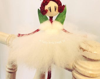 Ruby Red Fairy Doll
