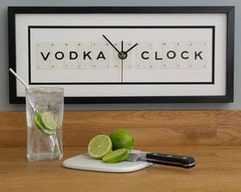 Vodka O Clock Frame Clock by Vintage Playing Cards FREE UK SHIPPING!