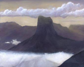 Peinture originale acrylique : Mont Aiguille