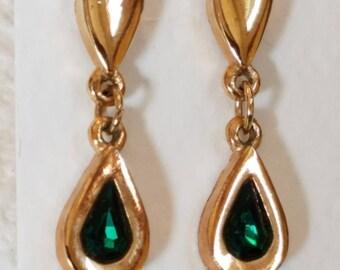 Vintage Avon tear drop rhinestone earrings, Avon Earrings, Vintage Avon