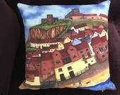 Beach Walk, Whitby  - Art Cushion