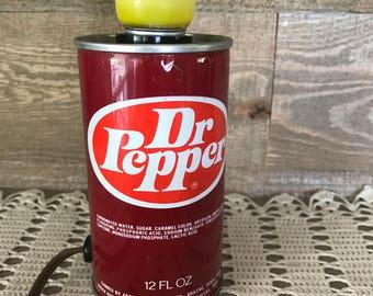 Dr Pepper Soda Can Light 1970's