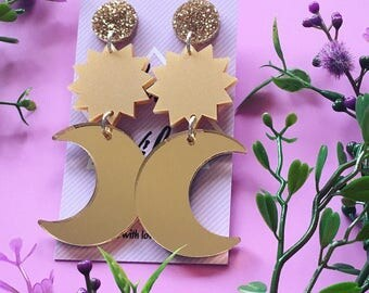 SALE!!! MAGIC MOON / Statement Earrings