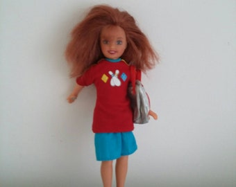 Vintage collectable rare bowling Barbie doll, Mattel barbie doll toy. Collectable doll.