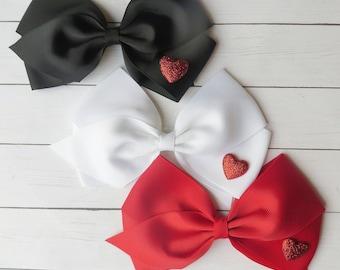 Valentine's Day Hair Bows   Valentine's Hair Bows   Valentine's Day Hairbows   Hairbow   Valentine's Headbands   Valentine's Headband   Clip