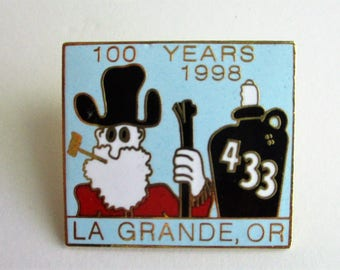 Vintage BPOE 100 Years Anniversary Hat Pin Lapel Pin La Grande Oregon Lodge No 433 1998 Enamel Pinback Earl Bryan