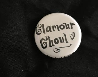 """Glamour Ghoul 1.25"""" pinback button"""