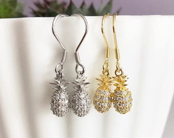 Sterling silver pineapple earrings and necklace