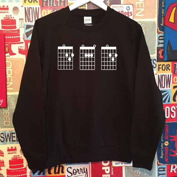 DAD Chords. Unisex Quality Sweatshirt. Guitarist, Guitar Tabs inspired. Xmas Christmas. Holiday Present or Gift.
