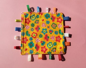 Taggy, blankey, lovey, babyshower, ribbon