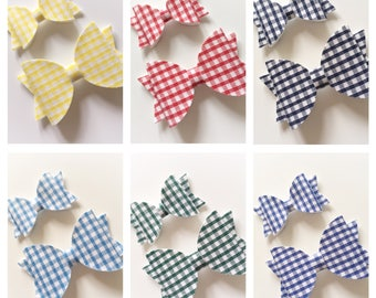 Gingham school hair bow in choice of sizes - school hair bows, gingham bow