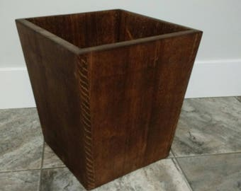 Wood Wastebasket or Waste Basket