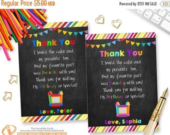 50% OFF SALE Bounce House Thank you card, Jump Thank you card, Chalkboard, Pump it up, Thank you card, Thank you note, Boy or Girl, Printabl