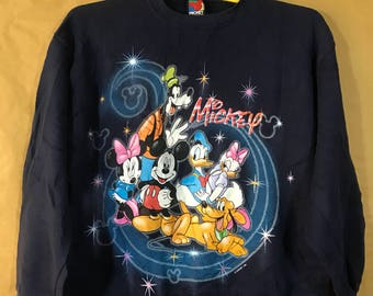Vintage Mickey Mouse And Friends By Disney Sweatshirt