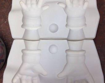 """Vintage Estate 22"""" Large Bye Lo Hands Porcelain Doll Ceramic Mold B317b Byron G4"""