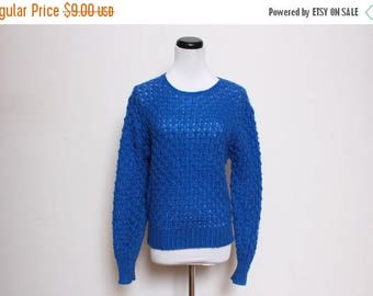 25% OFF VTG 80s-90s Blue Knit 3D Sweater Xs/S