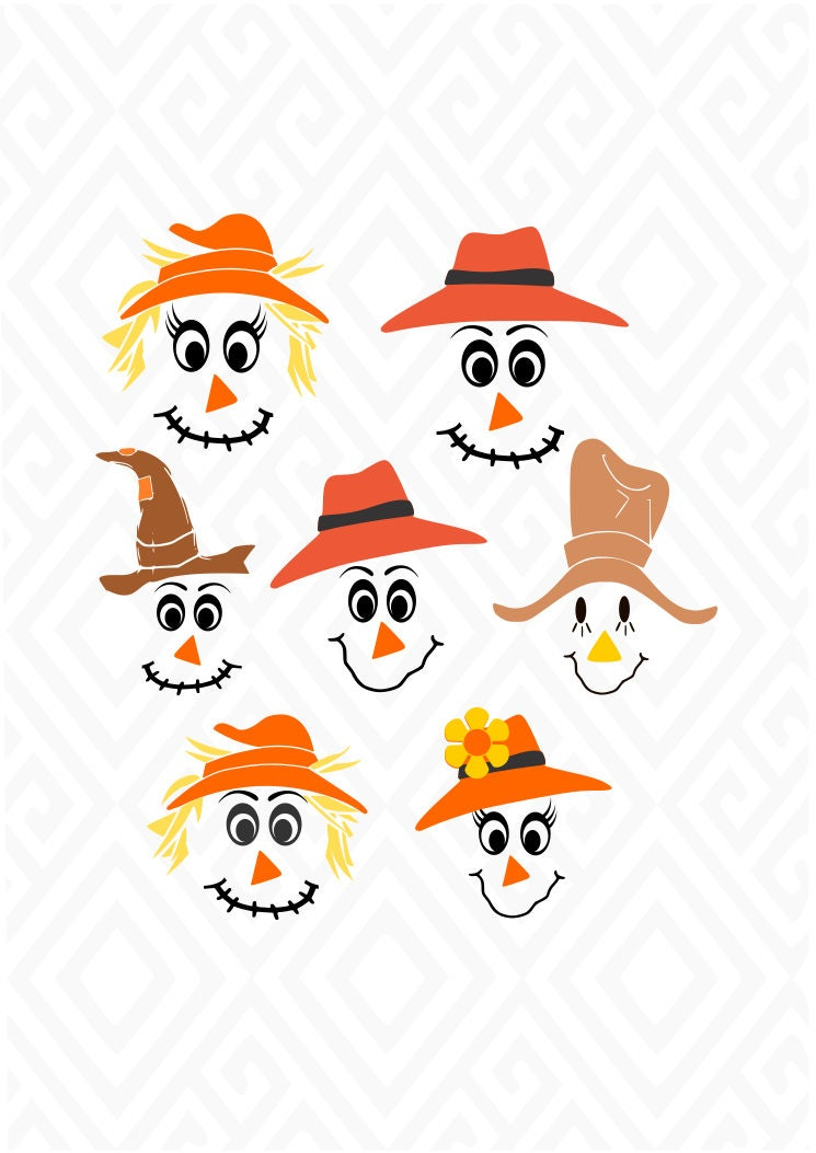 scarecrow faces svg dxf eps ai jpeg png and pdf digital snowman clip art free printable snowman clip art free images arms