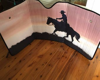Horse And Rider  SUNSHADE.....Sizes available