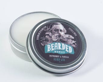 Peppermint and Vanilla Beard and Moustache Wax