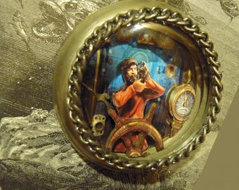 Captain Nemo diorama unique Pocket Watch necklace! pocket watch One Of A Kind N506
