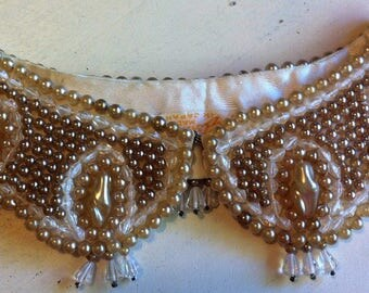 Vintage Pearl Collar with Beaded Drops