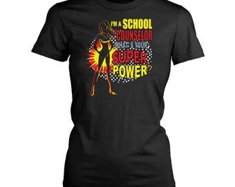 School Counselor Women T-shirt. School Counselor tshirt for him or her.