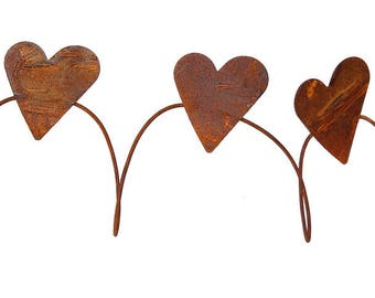Rusty Tin Heart Garland, Tin Hearts, Rusty Hearts, Craft Supplies, Rusty Metal, Rusty Wire