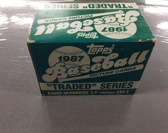 1987 Topps traded series
