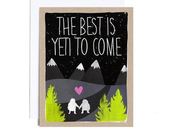 Card // Wedding // The Best is Yeti to Come