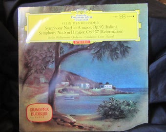 Maazel Mendelssohn Symphonies Nos.4 & 5 DGG Red Stereo SLPM 138 684