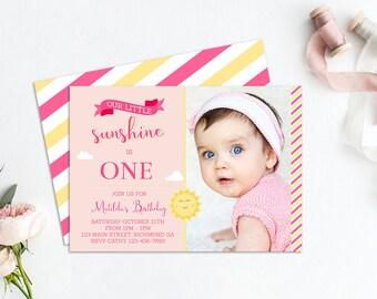 Sunshine Invitation, Sunshine Birthday, Sunshine Party, Our Little Sunshine, Sunshine Invite, Birthday Invitation, Printable Invitation