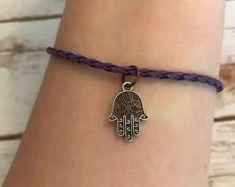 Hamsa Hand Charm Bracelet, Charm Bracelet, Hamsa Charms, Jewelry, Bracelets