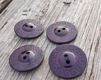 French buttons, 2 hole buttons, round buttons, buttons, sewing sundries,  purple buttons, roman style buttons, 2 cm buttons