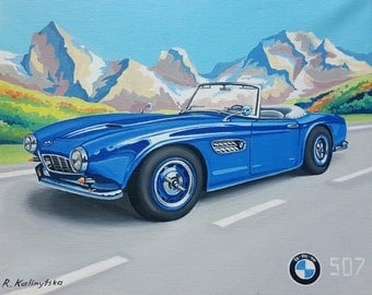 BMW 507 Painting (original)