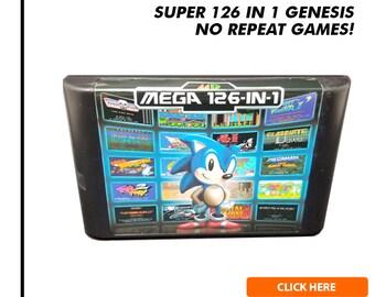 Super 126 in 1 Multicart Game Cartridge for Sega Genesis / Mega Drive