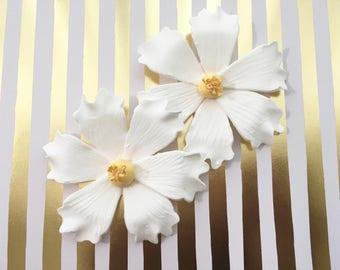 6 Cosmo Fondant Flowers I Fondant Cosmo Gumpaste Flowers Gumpaste Cosmo Cake Topper Wedding Cake Topper Cake Decoration Edible Flowers