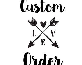 Custom order for Angela