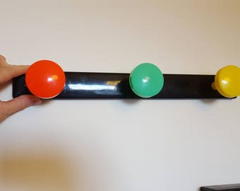 Wall coat rack vintage plastic