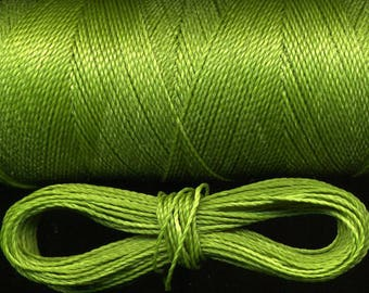 10 meters wire macrame 352 Linhasita, green