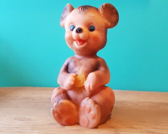 Vintage Rubber Bear Toy