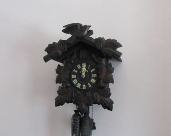 Cuckoo Clock Poppo Japan 1950's Beautiful Craftsmanship  Needs Some TLC by a Tinkerer!  One Day