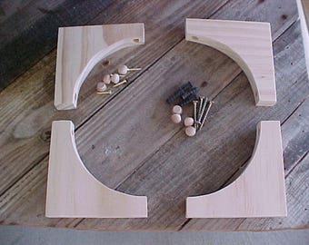 4 Simple Shelf Brackets With Hardware by Victorianwoods