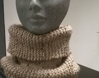 snood hand knit tweed for children or adult