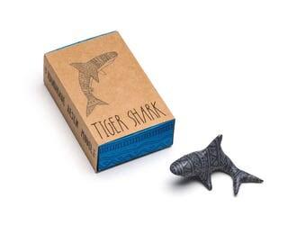 Hand cast resin Tiger Shark