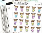 Pajama Planner Stickers - Sleep Planner Stickers - Tired Planner Stickers - Dog Planner Stickers - Doodle Planner Stickers - 2021