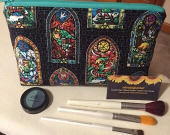 Legend of Zelda Cosmetic Bag Makeup Bag Zipper Pouch