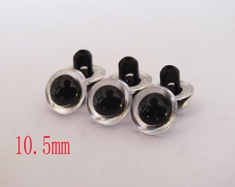 wholesale 30pcs 10.5mm clear Crystal Eyes Can Sewing Free Shipping Doll Making Supply